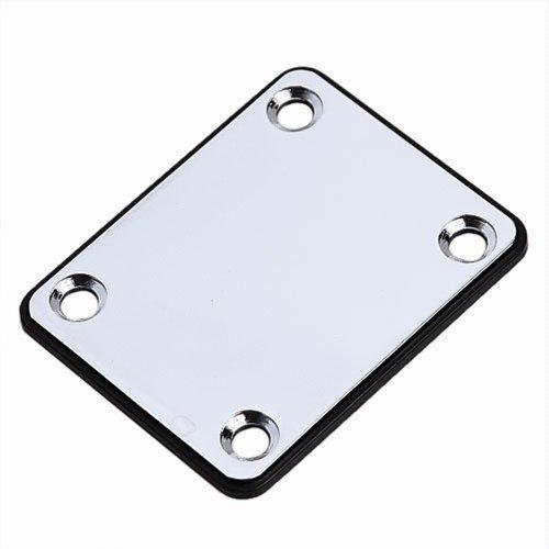 1pc Neck Plate with Crews Chrome for Fender Replacement Electric Guitar Part